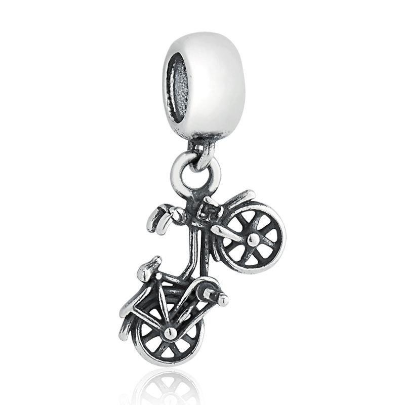 Berloque Pingente Bicicleta Prata