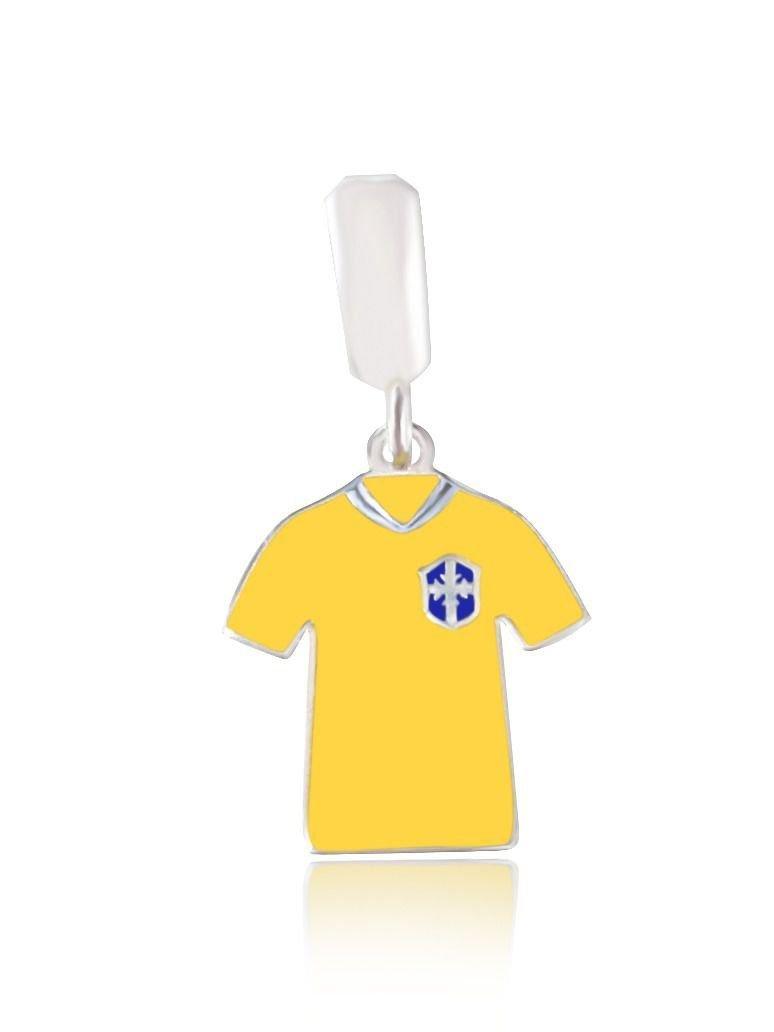 Berloque Pingente Camisa Do Brasil