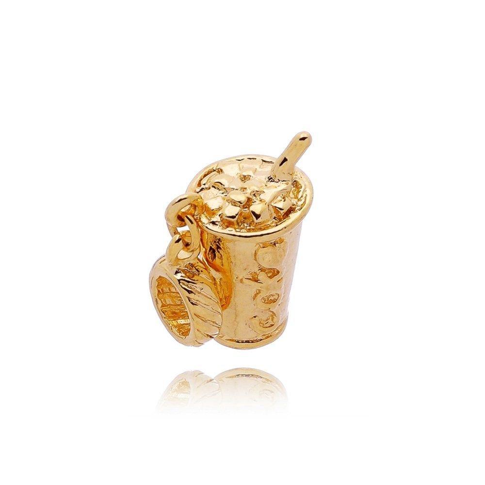 Berloque Pingente Coca Cola Dourada