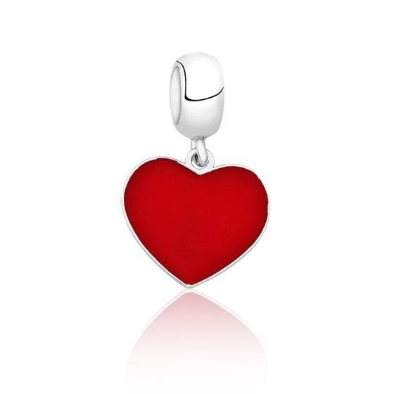 Berloque Pingente Coração Love Vermelho