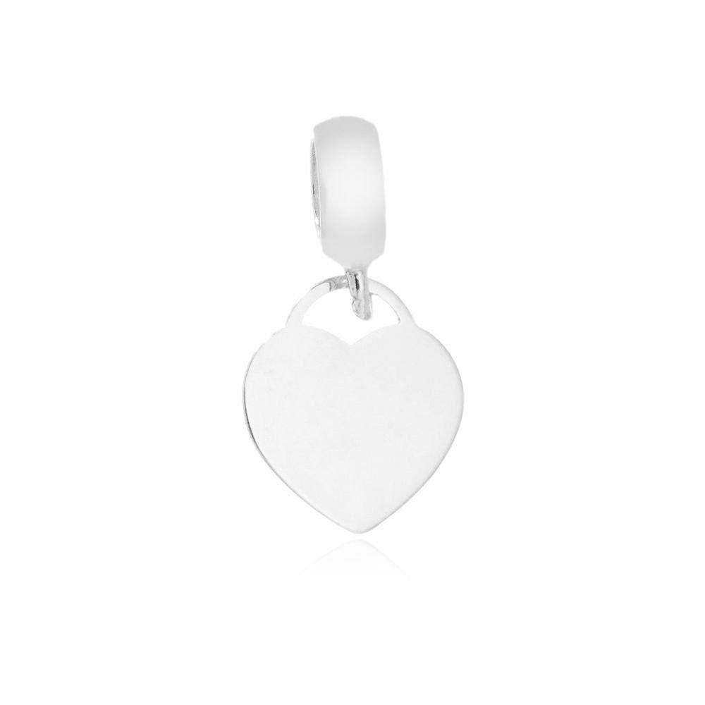 Berloque Pingente Coração Mãe Prata