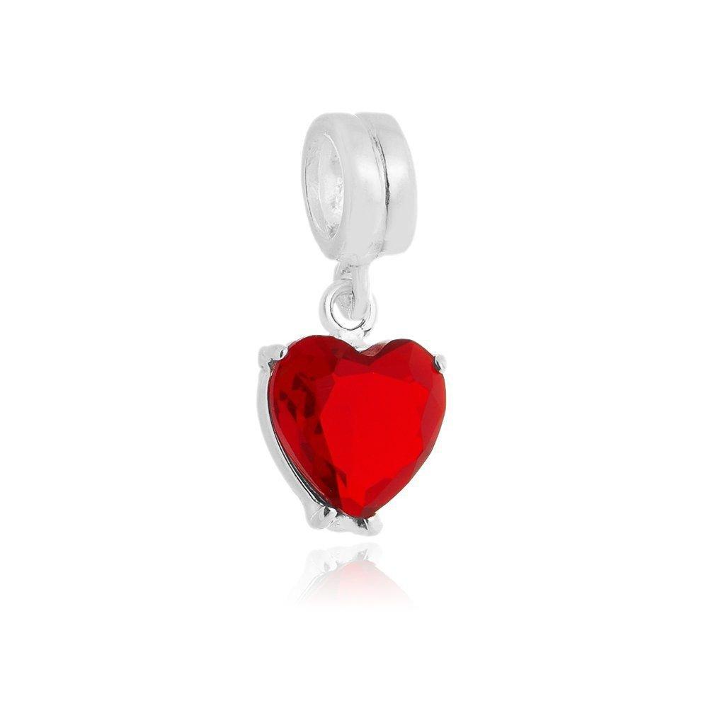 Berloque Pingente Coração Vermelho II