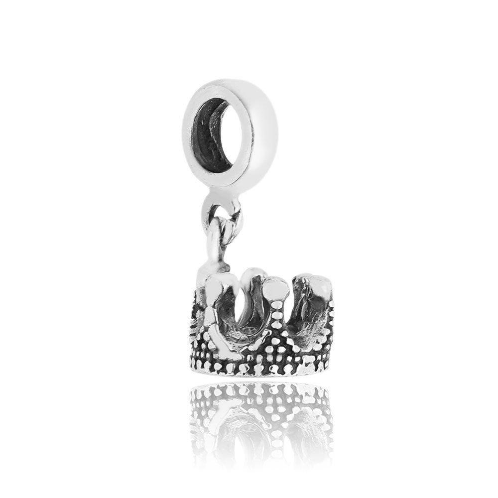 Berloque Pingente Coroa de Prata