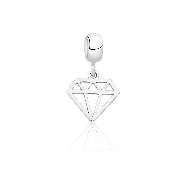 Berloque Pingente Diamante
