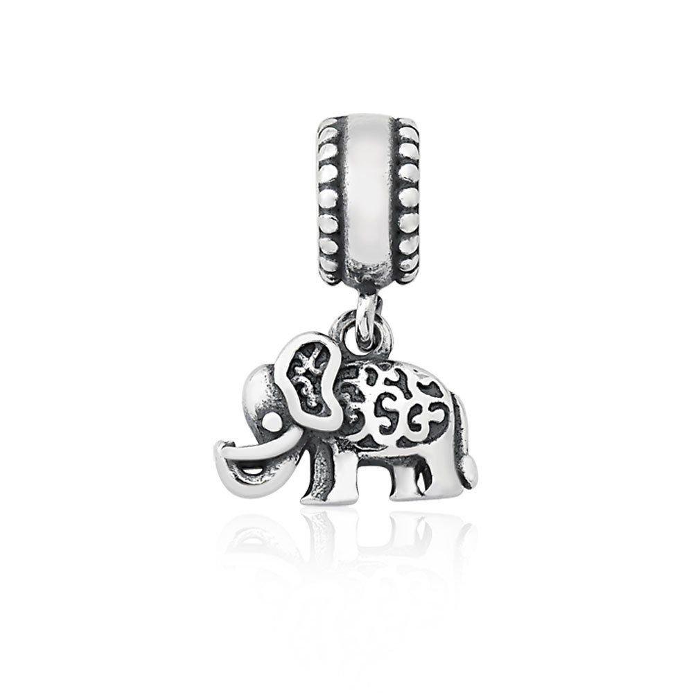 Berloque Pingente Elefante Trabalhado