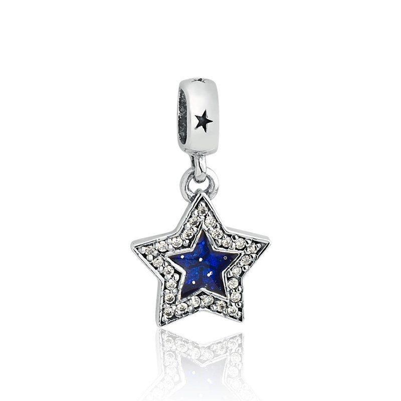 Berloque Pingente Estrela Azul