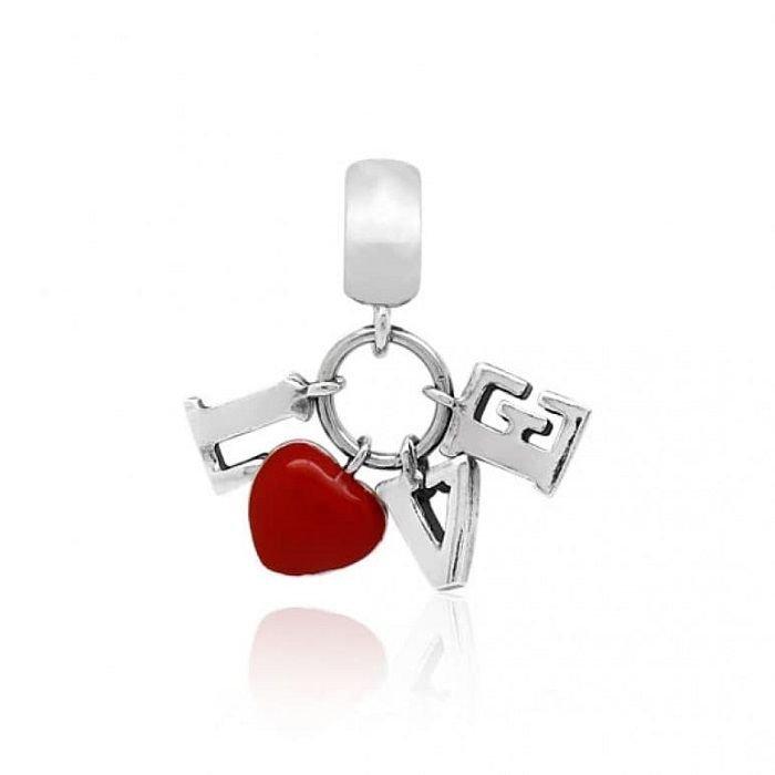 Berloque Pingente Love Vermelho