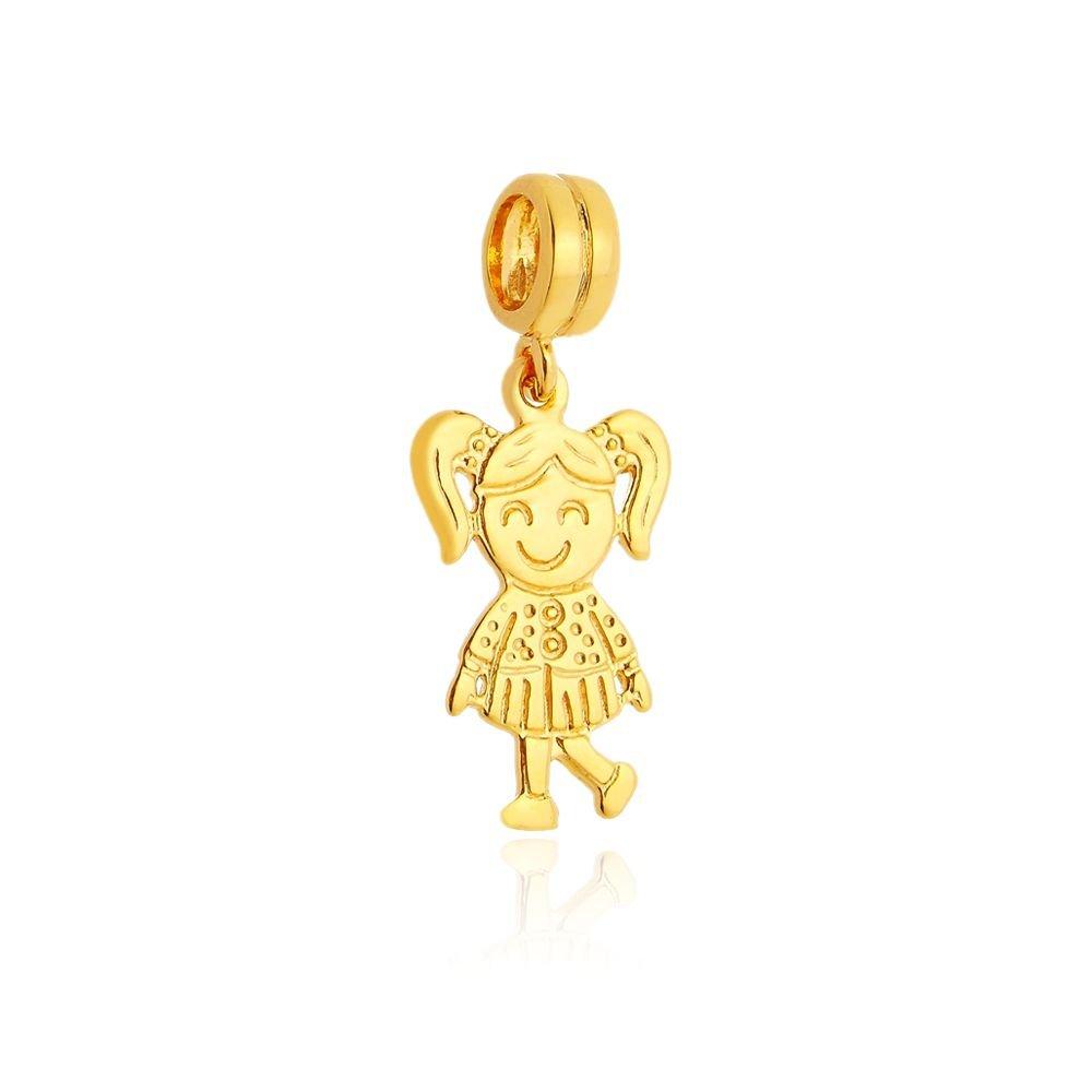 Berloque Pingente Menininha Dourada
