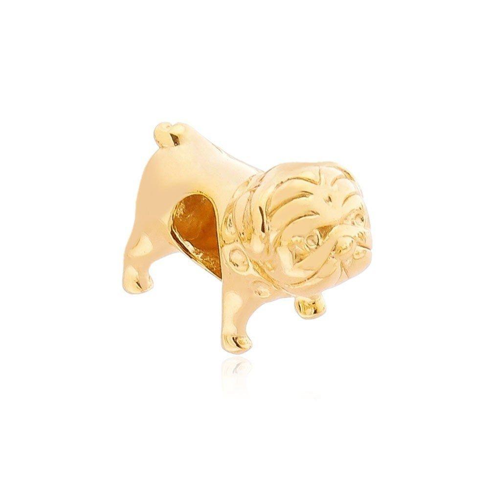 Berloque Pug Dourado