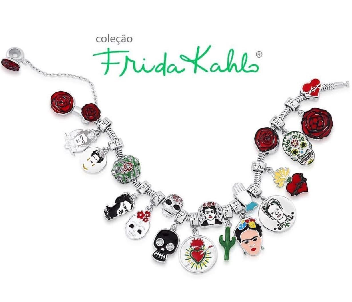 Berloque Rosa Frida Kahlo