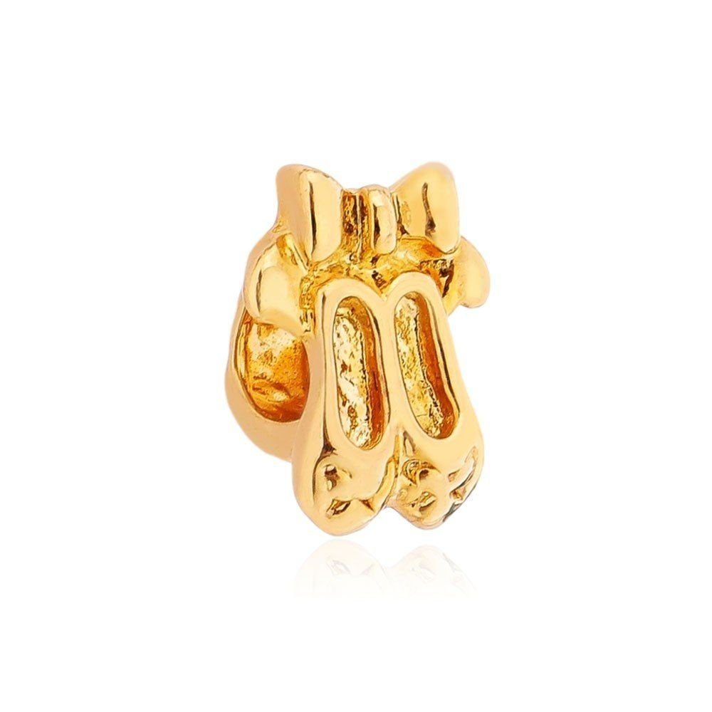Berloque Sapatilhas de Balé Dourada