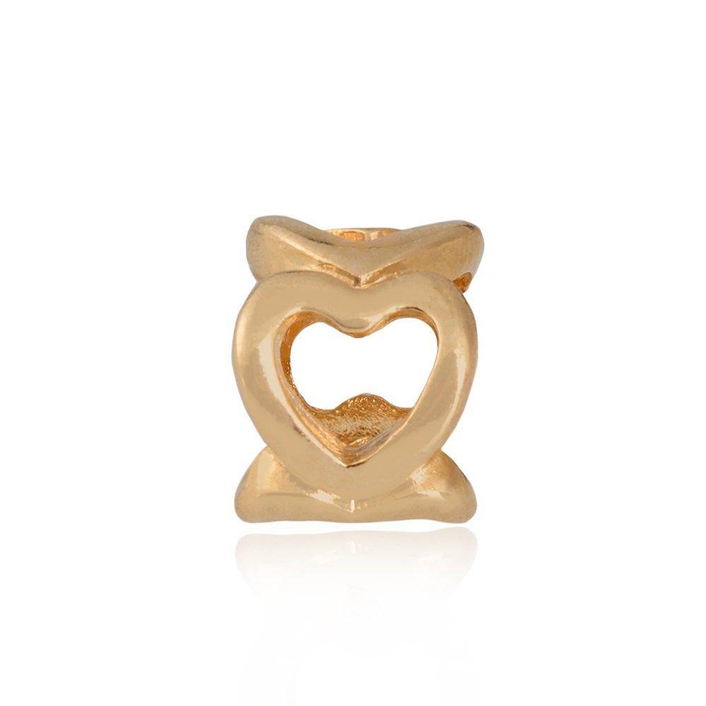 Berloque Separador Dourado Corações