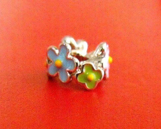 Berloque Separador Flores Coloridas