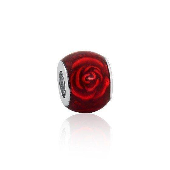 Berloque Separador Rosa Vermelha