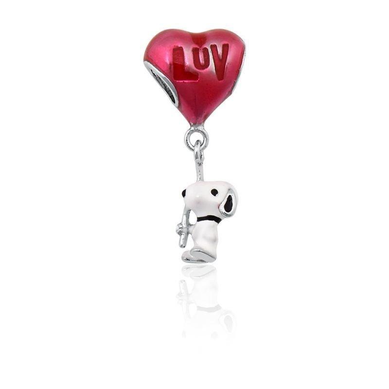 Berloque Snoopy Coração Love