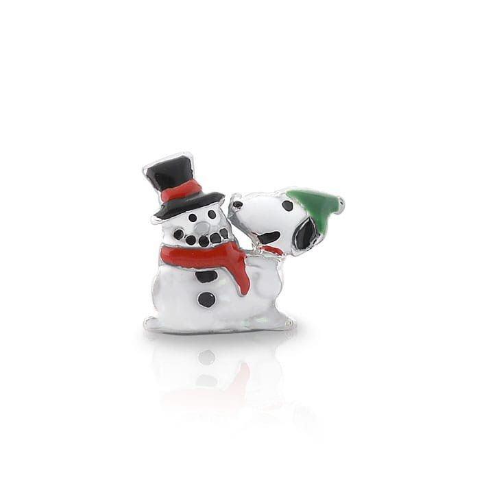 Berloque Snoopy E Boneco de Neve