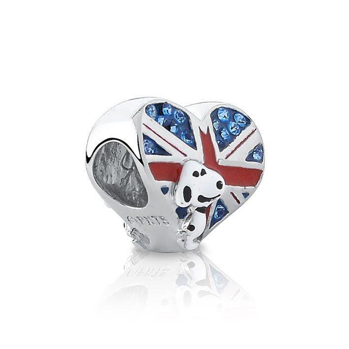 Berloque Snoopy Reino Unido Zircônias