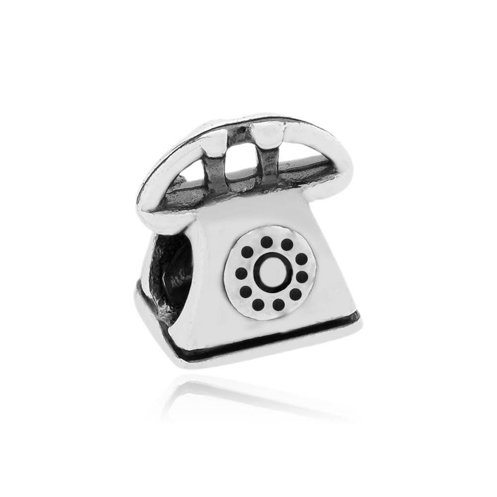 Berloque Telefone Retrô Prata