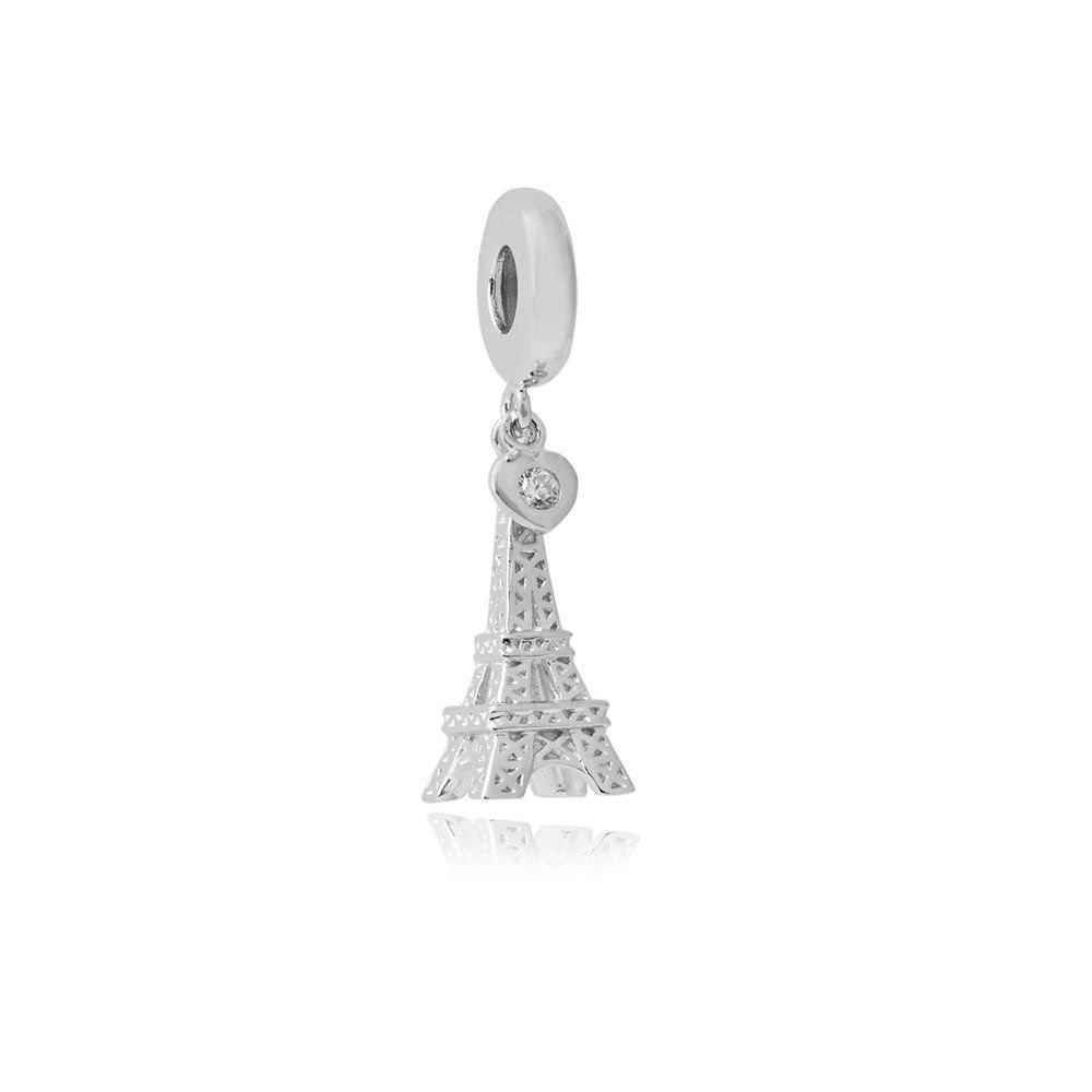 Berloque Torre Eiffel Coração