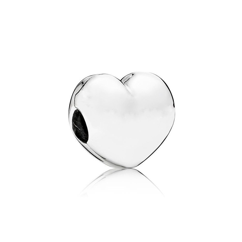 Berloque Trava Coração Prata