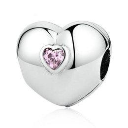 Berloque Trava Coração Rosa