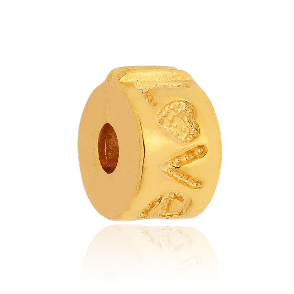 Berloque Trava de Pulseira Dourada