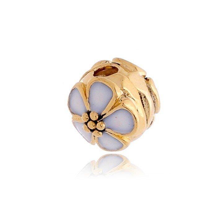 Berloque Trava Flor Dourada