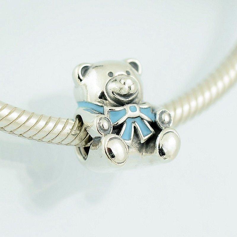 Berloque Urso Laço Azul