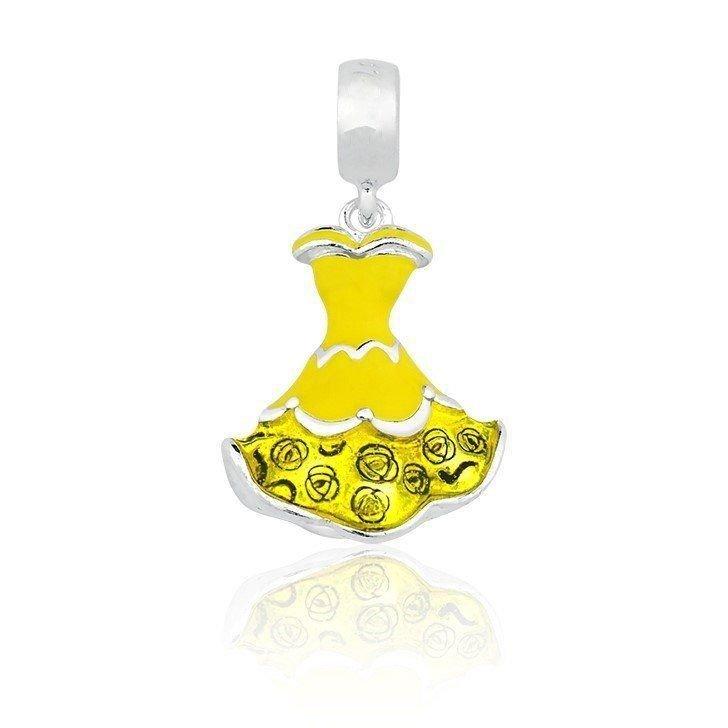 Berloque Vestido Amarelo de Princesa