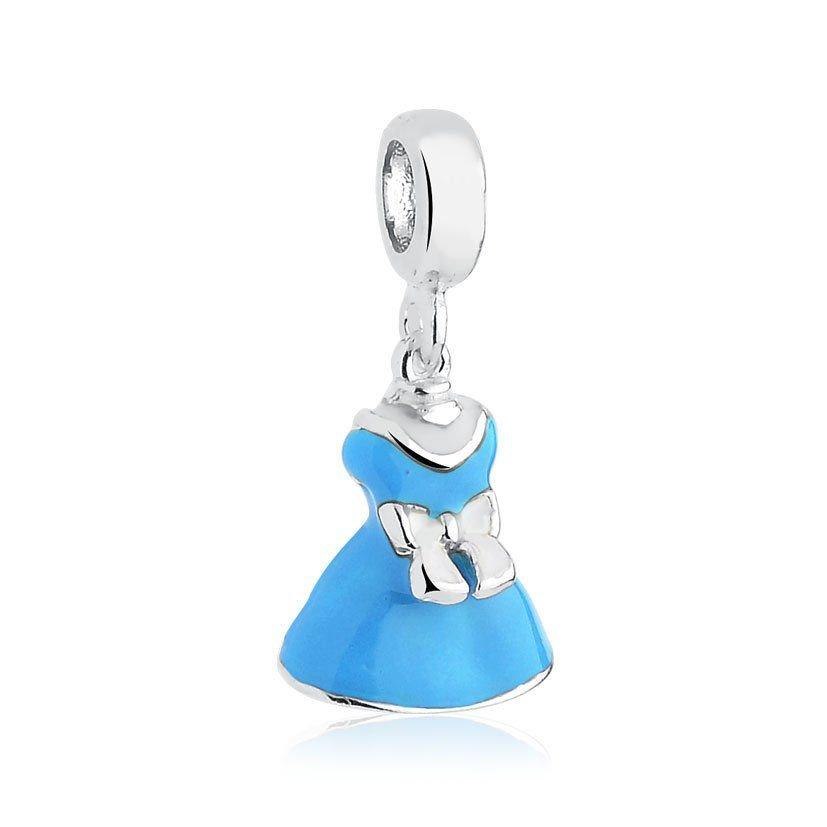 Berloque Vestido Azul E Branco