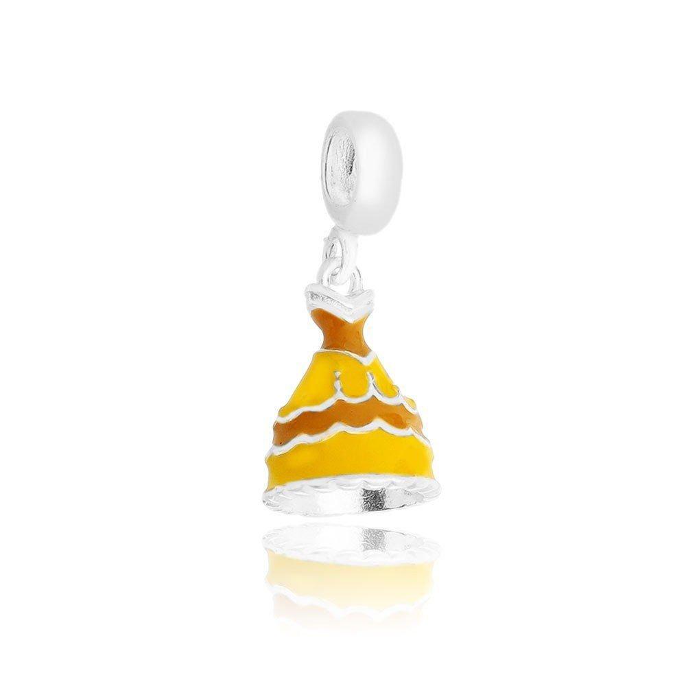 Berloque Vestido de Princesa Amarelo