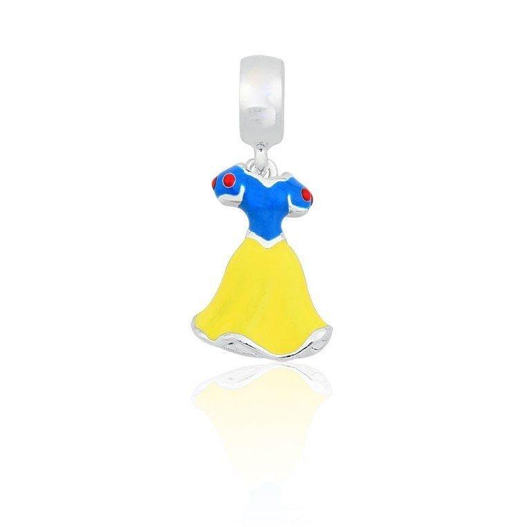 Berloque Vestido de Princesa Amarelo e Azul