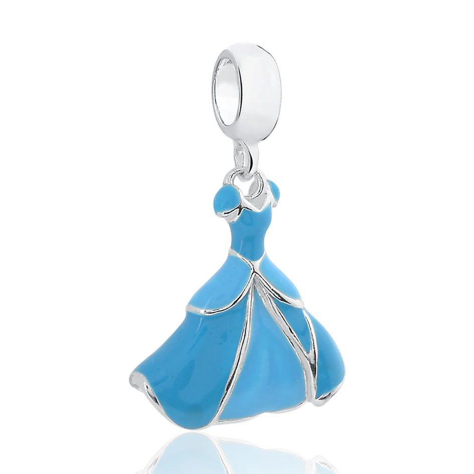 Berloque Vestido de Princesa Azul