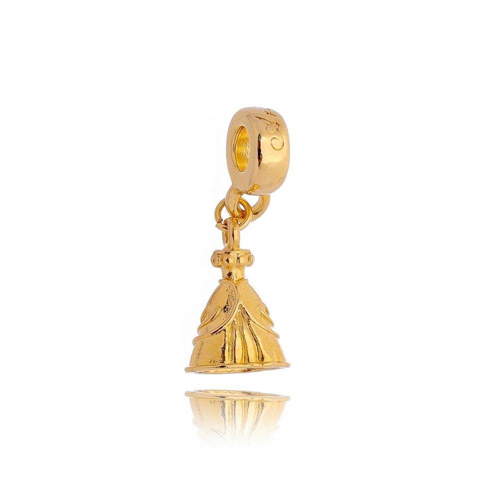Berloque Vestido de Princesa Dourado