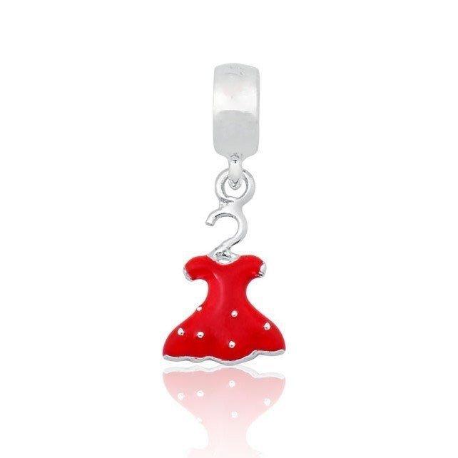 Berloque Vestido Vermelho Poá