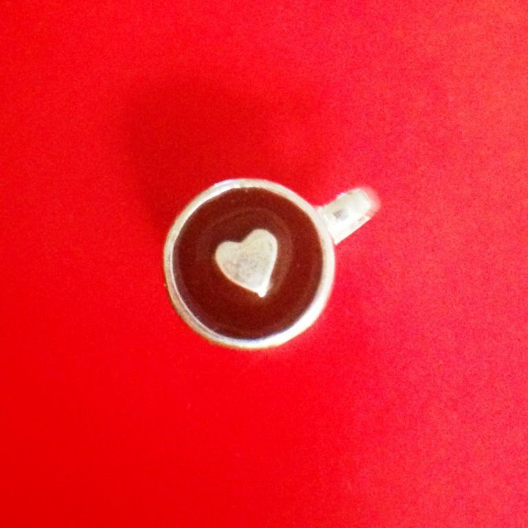 Berloque Xícara de Café Coração