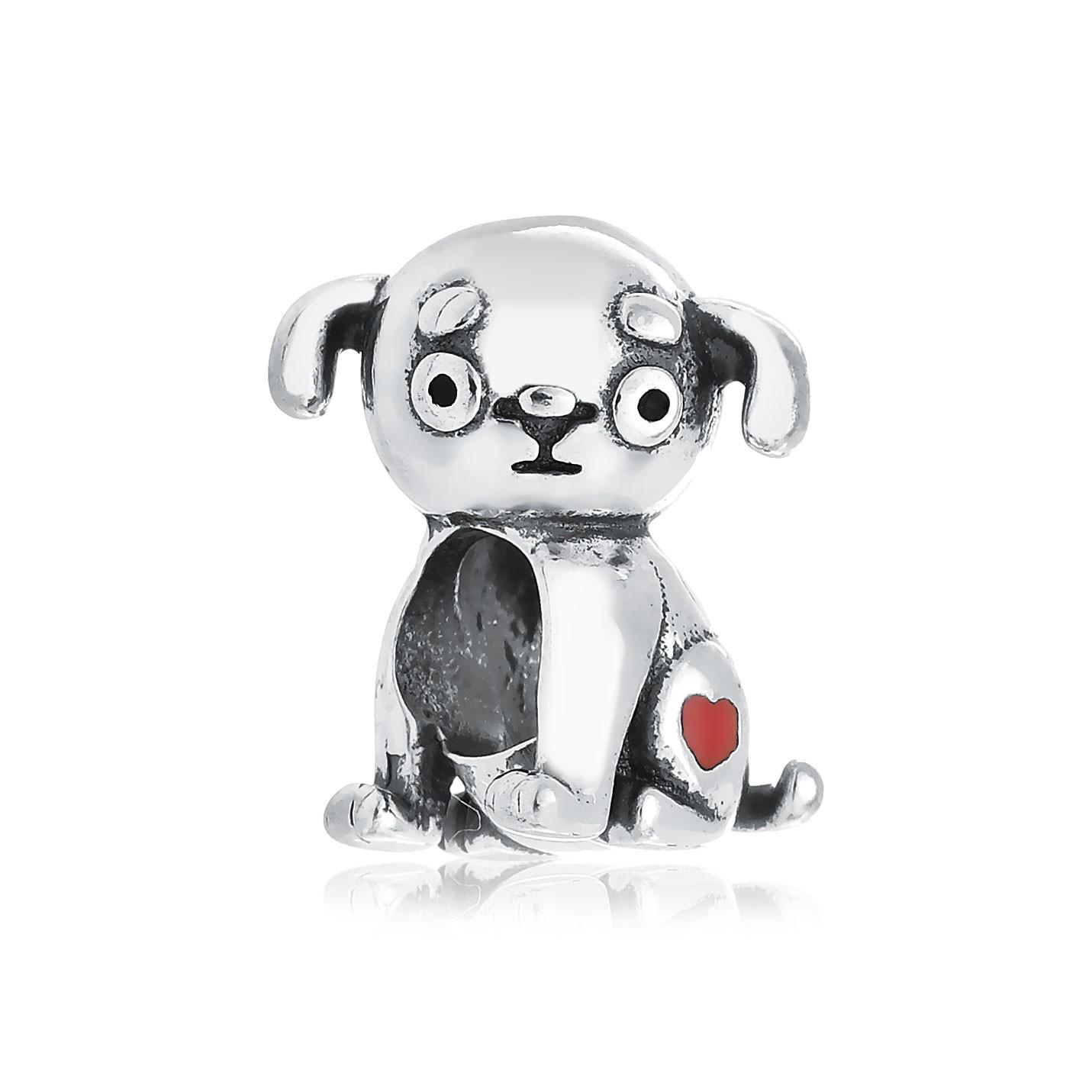 Berloque Cachorrinho Coração