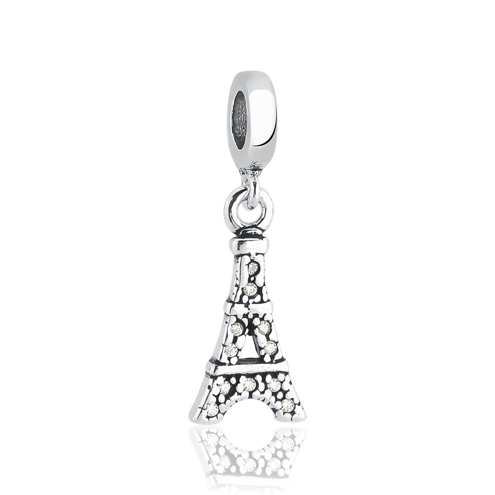 Berloque Torre Eiffel Cravejada