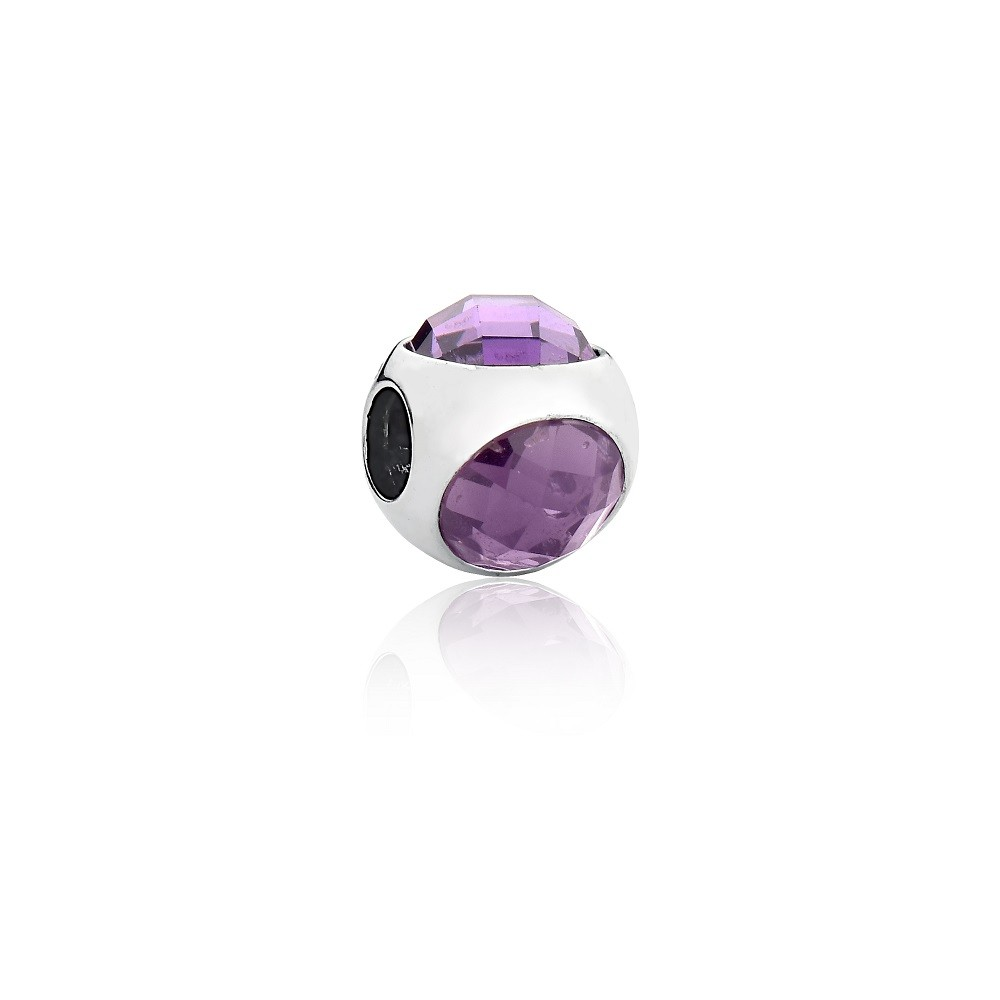 Berloque Separador Cristal Violeta