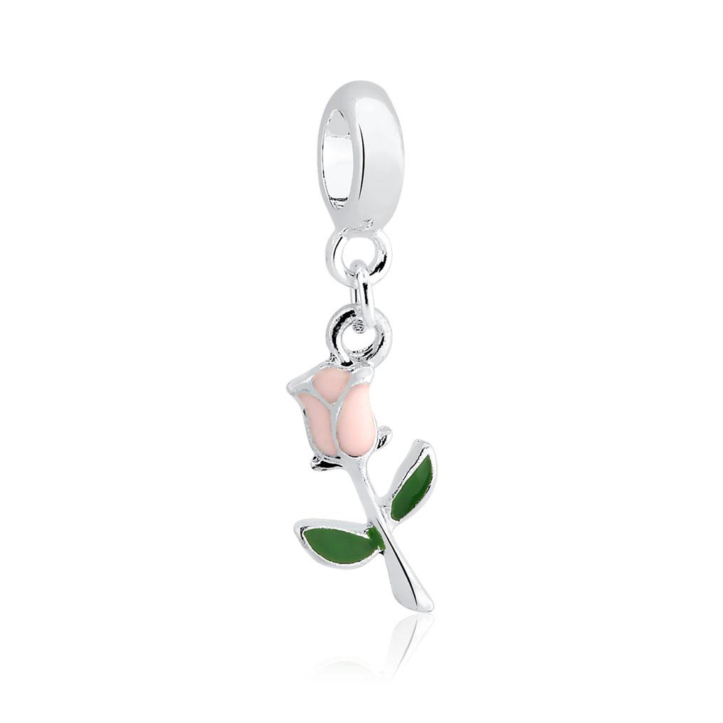 Berloque Flor Tulipa Rosa