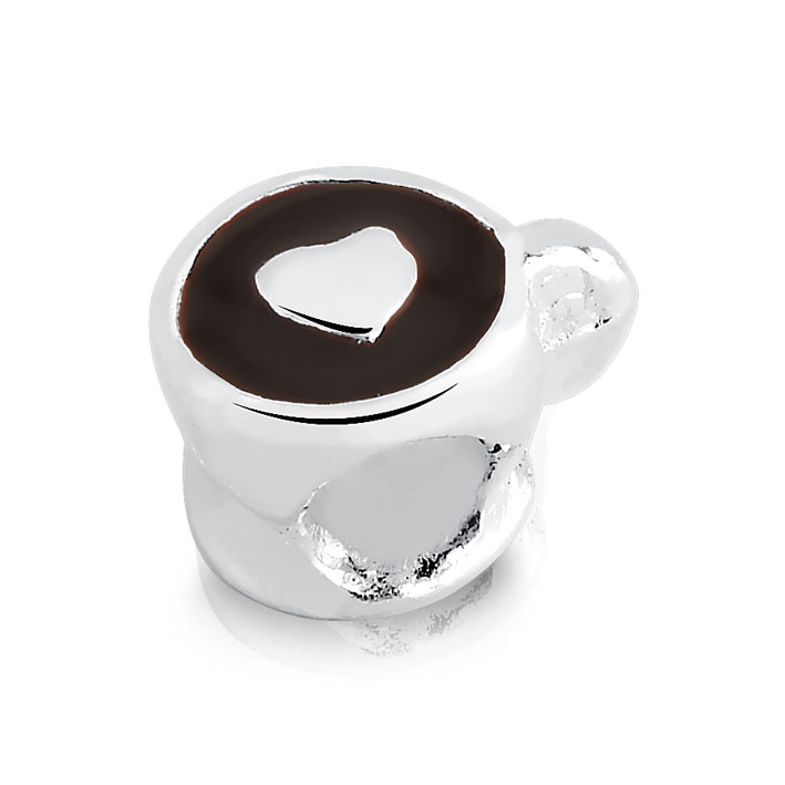 Berloque Xícara De Café Coração Bijoux