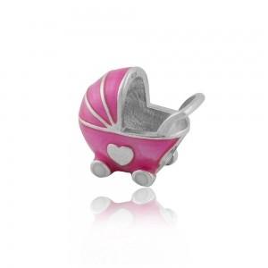 Berloque Carrinho de Bebê Menino ou Menina
