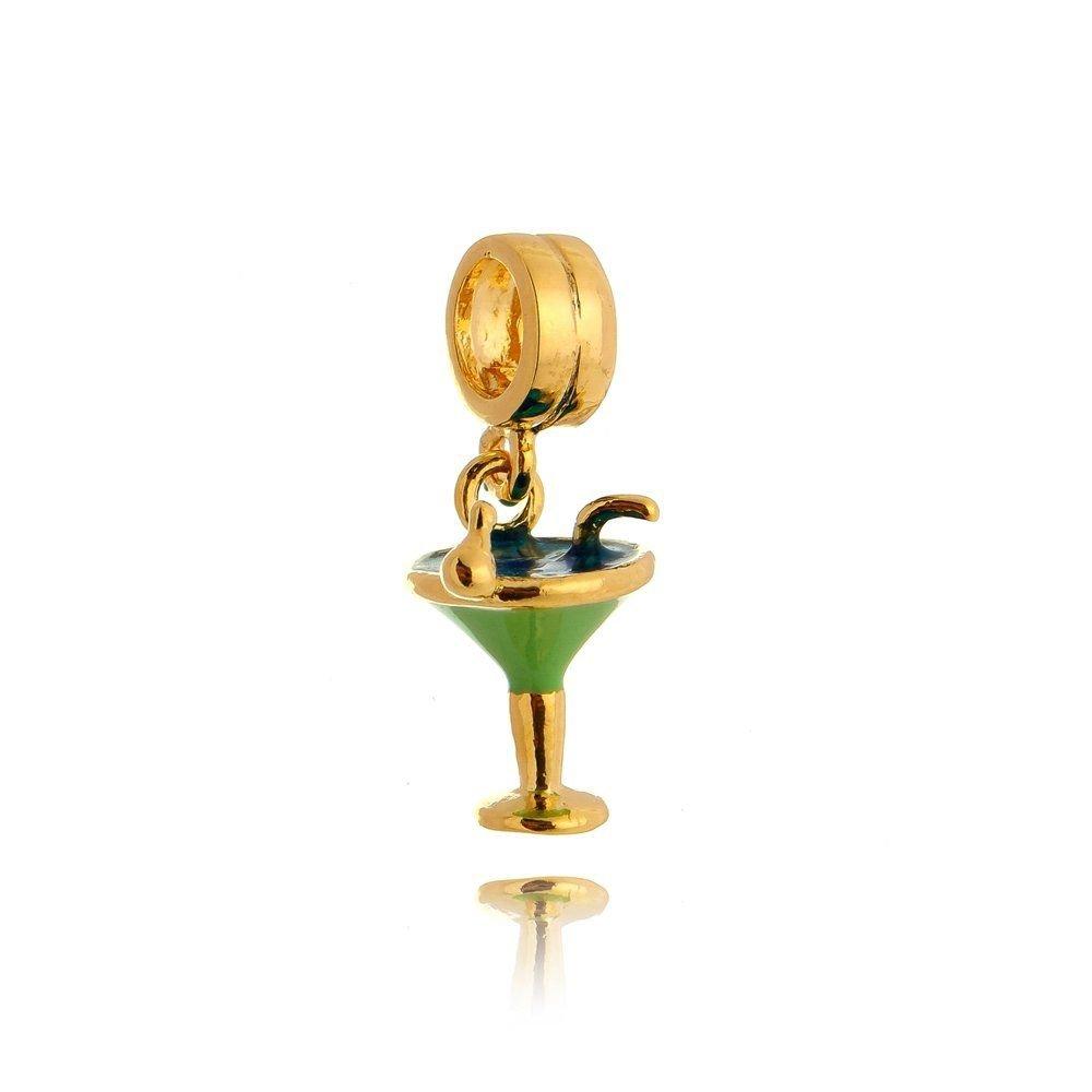 Pingente Drink Dourado