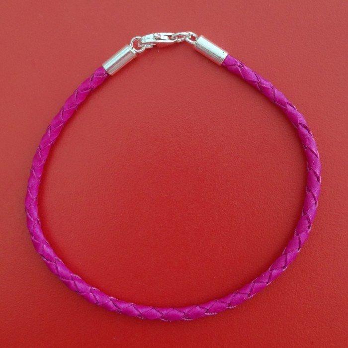 Pulseira Couro II Pink