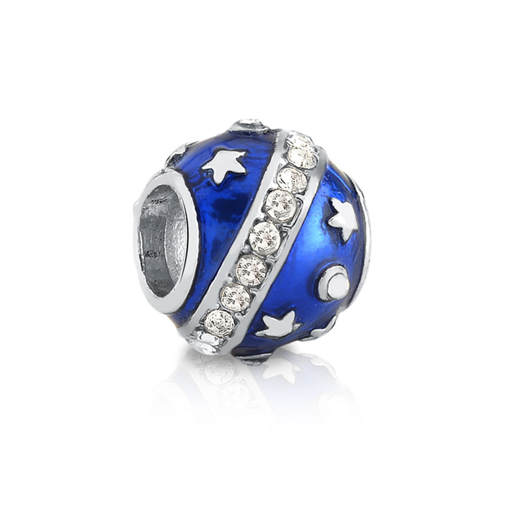 Berloque Separador Azul Estrelas