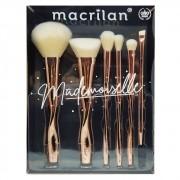 Kit De Pinceis Profissional Mademoiselle Macrilan - Ed004