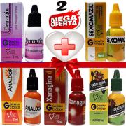 Kit Farmacinha Erótica 2 com 5 Lubrificantes com Efeitos 15ml