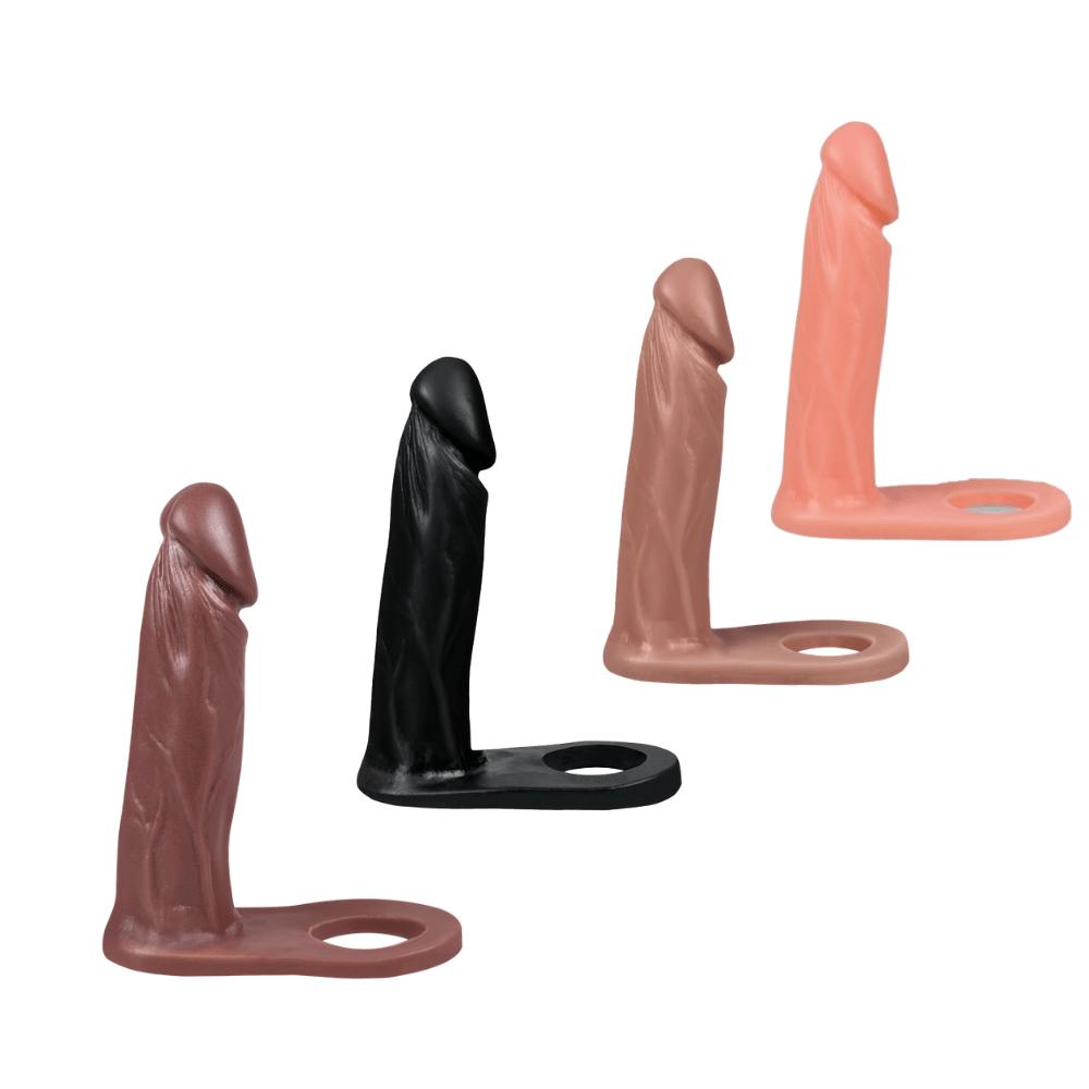 Pênis Com Anel Companheiro Para Dupla Penetração Realístico Maciça 15cm X 3,5 cm