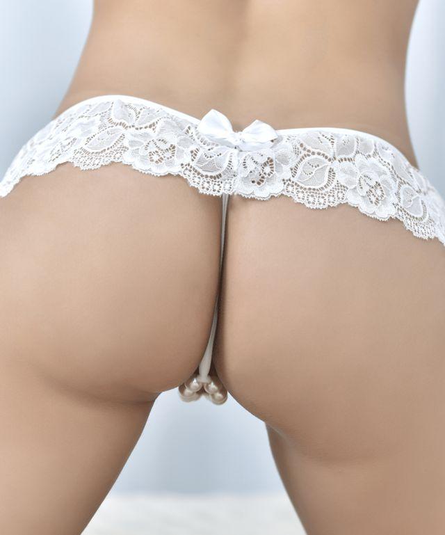 Calcinha Tailandesa Lingeriesex Com Pérolas Eroticas Luxo