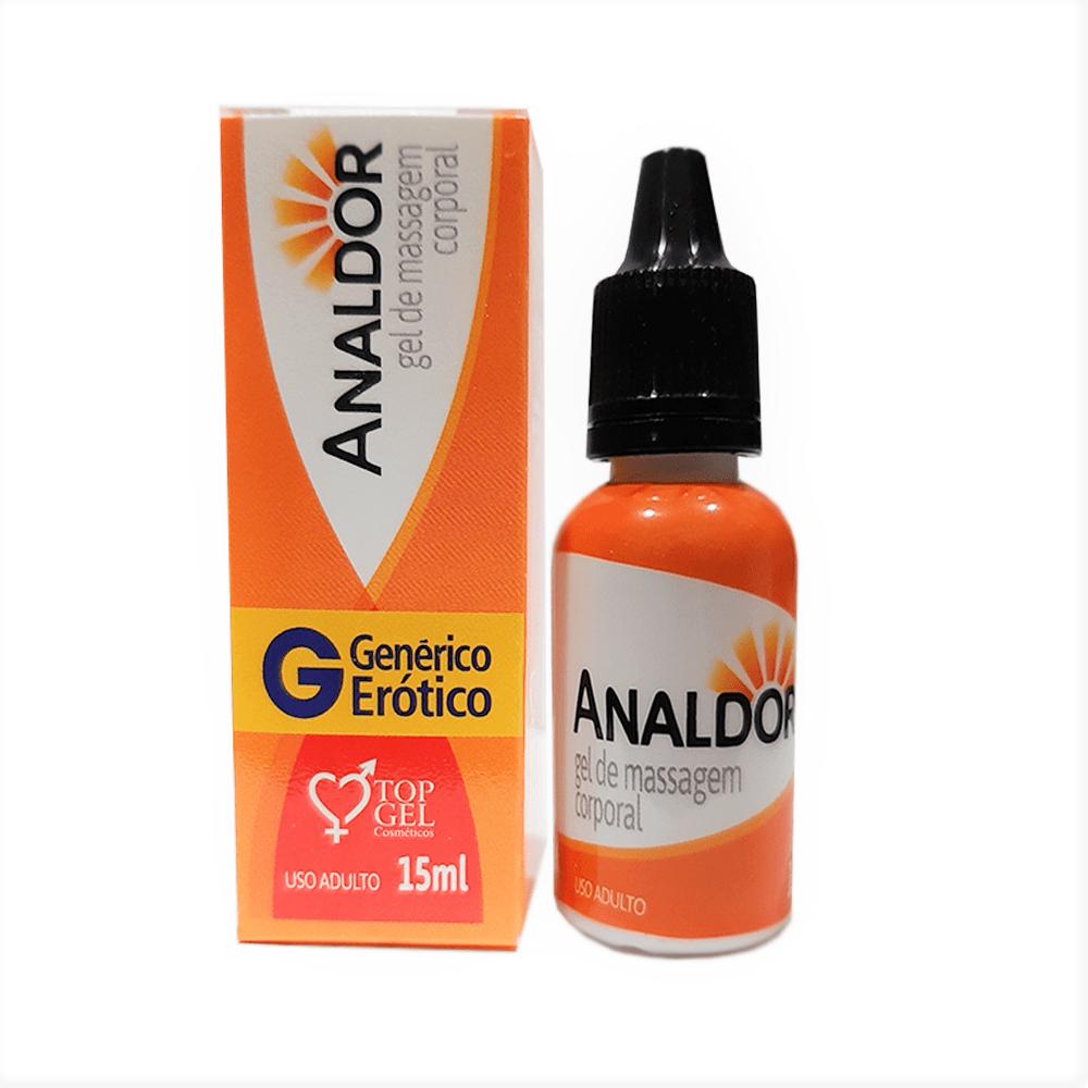 Gel Lubrificante Anestésico Anal Excitante Analdor 15ml